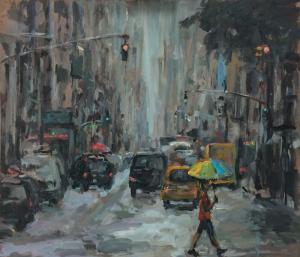 New York on a rainy day