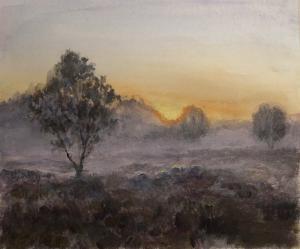 Ginkelse heide in de mist