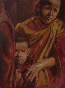 Jonge Tibetaanse monniken