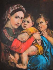 Madonna della seggiola, op mijn manier