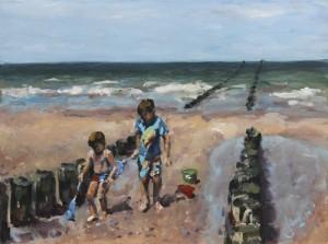 Struinen op het strand