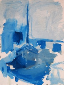 Toonschets blauw